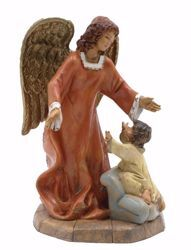 Picture of Angel with Child cm 20 (7,9 inch) Euromarchi Statue in plastic PVC for outdoor use