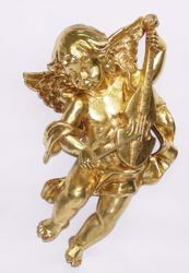 Picture of Flying Angel cm 40 (15,7 inch) Euromarchi Gold Statue Christmas Decoration in plastic PVC