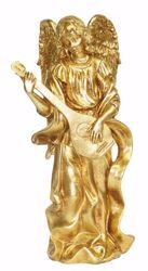 Imagen de Ángel Músico cm 35 (13,8 inch) Estatua Euromarchi Oro Decoración navideña plástico PVC