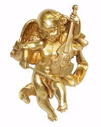 Picture of Flying Angel cm 30 (11,8 inch) Euromarchi Gold Statue Christmas Decoration in plastic PVC