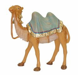 Picture of Standing Camel cm 16 (6,3 inch) Lux Euromarchi Nativity Scene Traditional style in wood stained plastic PVC for outdoor use