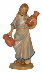 Picture of Woman with Jug cm 16 (6,3 inch) Lux Euromarchi Nativity Scene Traditional style in wood stained plastic PVC for outdoor use