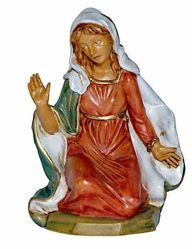 Picture of Mary / Madonna cm 20 (8 inch) Lux Euromarchi Nativity Scene Traditional style in wood stained plastic PVC for outdoor use
