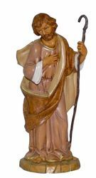 Picture of Saint Joseph cm 30 (12 inch) Lux Euromarchi Nativity Scene Traditional style in wood stained plastic PVC for outdoor use