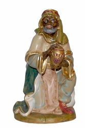 Picture of Melchior Saracen Wise King cm 30 (12 inch) Lux Euromarchi Nativity Scene Traditional style in wood stained plastic PVC for outdoor use
