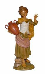Picture of Woman with Jug cm 30 (12 inch) Lux Euromarchi Nativity Scene Traditional style in wood stained plastic PVC for outdoor use
