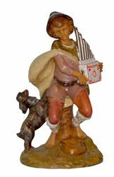 Picture of Shepherd with small Organ cm 30 (12 inch) Lux Euromarchi Nativity Scene Traditional style in wood stained plastic PVC for outdoor use
