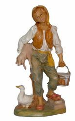 Picture of Man with Pig cm 30 (12 inch) Lux Euromarchi Nativity Scene Traditional style in wood stained plastic PVC for outdoor use