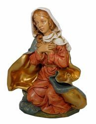 Picture of Mary / Madonna cm 20 (8 inch) Euromarchi Nativity Scene Neapolitan style in wood stained plastic PVC for outdoor use