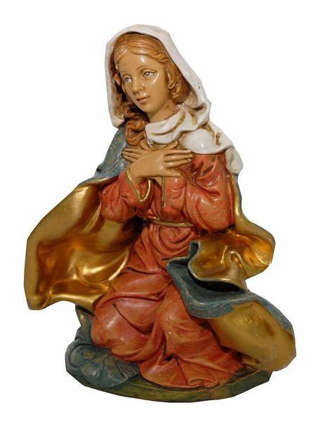 Immagine di Madonna / Maria cm 20 (8 inch) Presepe Euromarchi in plastica PVC per esterno tinto legno Stile Napoletano