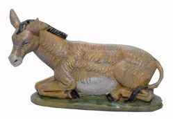 Picture of Donkey cm 20 (8 inch) Euromarchi Nativity Scene Neapolitan style in wood stained plastic PVC for outdoor use