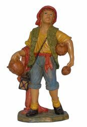 Picture of Shepherd with Amphoras cm 30 (12 inch) Euromarchi Nativity Scene Neapolitan style in wood stained plastic PVC for outdoor use