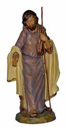 Picture of Saint Joseph cm 45 (18 inch) Lux Euromarchi Nativity Scene Traditional style in wood stained plastic PVC for outdoor use