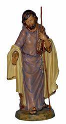 Immagine di San Giuseppe cm 45 (18 inch) Lux Presepe Euromarchi in plastica PVC per esterno tinto legno Stile Tradizionale