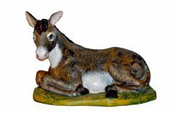 Picture of Donkey cm 45 (18 inch) Lux Euromarchi Nativity Scene Traditional style in wood stained plastic PVC for outdoor use