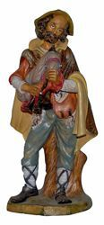 Picture of Bagpiper Shepherd cm 45 (18 inch) Lux Euromarchi Nativity Scene Traditional style in wood stained plastic PVC for outdoor use