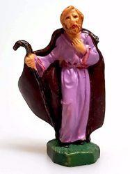 Immagine di San Giuseppe cm 4 (1,6 inch) Presepe Pellegrini Colorato Statua in plastica PVC Arabo tradizionale piccolo per interno esterno