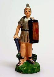 Immagine di Soldato cm 4 (1,6 inch) Presepe Pellegrini Colorato Statua in plastica PVC Arabo tradizionale piccolo per interno esterno