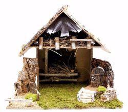 Imagen de Cabaña para Belén cm 16 (63 inch) Pueblo Euromarchi en Madera Corcho Musgo hecho a mano