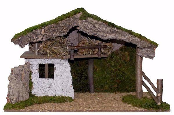 Imagen de Cabaña para Belén cm 20 (79 inch) Pueblo Euromarchi en Madera Corcho Musgo hecho a mano