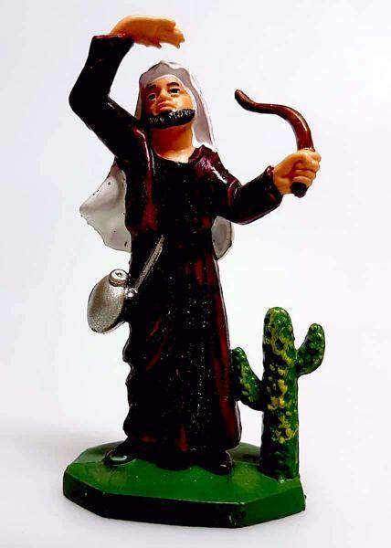 Immagine di Cammelliere cm 8 (3,1 inch) Presepe Pellegrini Colorato Statua in plastica PVC Arabo tradizionale piccolo per interno esterno