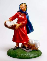 Picture of Woman washing cm 8 (3,1 inch) Pellegrini Nativity Scene small size Statue Bright Colors plastic PVC traditional Arabic indoor outdoor use