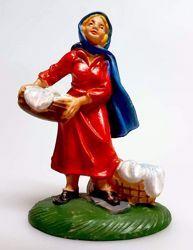 Immagine di Donna che lava cm 8 (3,1 inch) Presepe Pellegrini Colorato Statua in plastica PVC Arabo tradizionale piccolo per interno esterno