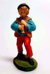 Immagine di Pastore con Piffero cm 8 (3,1 inch) Presepe Pellegrini Colorato Statua in plastica PVC Arabo tradizionale piccolo per interno esterno