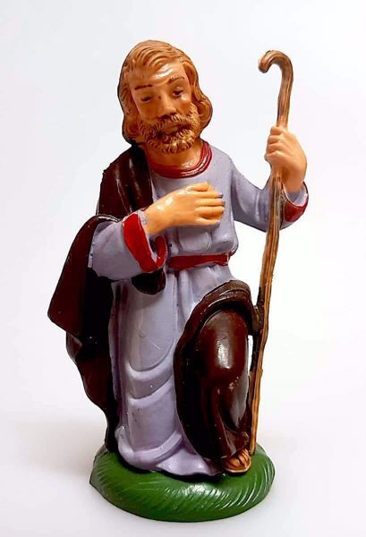 Immagine di San Giuseppe cm 10 (3,9 inch) Presepe Pellegrini Colorato Statua in plastica PVC Arabo tradizionale piccolo per interno esterno