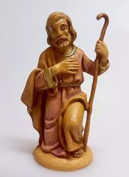 Picture of Saint Joseph cm 10 (3,9 inch) Pellegrini Nativity Scene small size Statue Wood Stained plastic PVC traditional Arabic indoor outdoor use