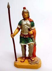 Imagen de Soldado cm 10 (3,9 inch) Belén Pellegrini Estatua en plástico PVC árabe tradicional pequeño Efecto Madera para uso en interior exterior