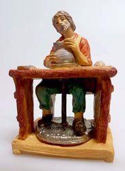 Imagen de Alfarero cm 10 (3,9 inch) Belén Pellegrini Estatua en plástico PVC árabe tradicional pequeño Efecto Madera para uso en interior exterior