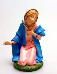 Picture of Mary / Madonna cm 11 (4,3 inch) Pellegrini Nativity Scene small size Statue Bright Colors plastic PVC traditional Arabic indoor outdoor use