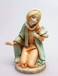 Picture of Mary / Madonna cm 11 (4,3 inch) Pellegrini Nativity Scene small size Statue in Porcelain stained plastic PVC traditional Arabic indoor outdoor use