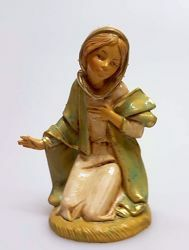 Picture of Mary / Madonna cm 11 (4,3 inch) Pellegrini Nativity Scene small size Statue Wood Stained plastic PVC traditional Arabic indoor outdoor use