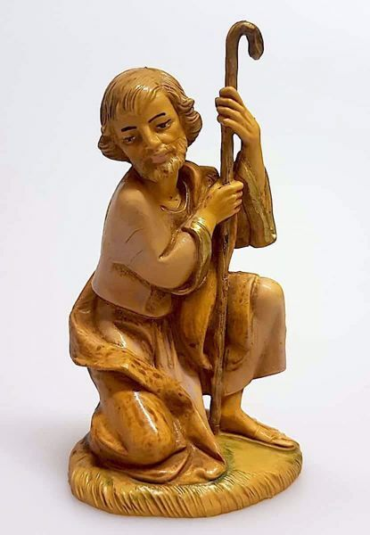 Picture of Saint Joseph cm 11 (4,3 inch) Pellegrini Nativity Scene small size Statue Wood Stained plastic PVC traditional Arabic indoor outdoor use