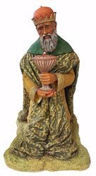 Picture of Melchior Saracen Wise King cm 110 (43,3 inch) Pellegrini Nativity Scene large size Statue in Oxolite Resin indoor outdoor use traditional Arabic