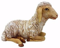 Picture of Lamb cm 110 (43,3 inch) Pellegrini Nativity Scene large size Statue in Oxolite Resin indoor outdoor use traditional Arabic