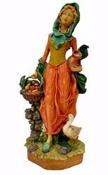 Picture of Woman with Fruit cm 50 (19,7 inch) Pellegrini Nativity Scene large size Statue in Oxolite Resin indoor outdoor use traditional Arabic