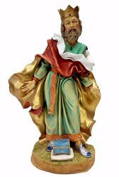 Picture of Caspar White Wise King cm 50 (19,7 inch) Pellegrini Nativity Scene large size Statue in Oxolite Resin indoor outdoor use traditional Arabic