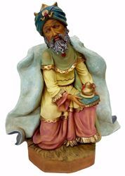 Picture of Melchior Saracen Wise King cm 50 (19,7 inch) Pellegrini Nativity Scene large size Statue in Oxolite Resin indoor outdoor use traditional Arabic