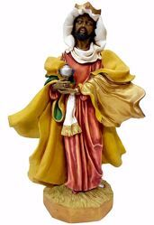 Picture of Balthazar Black Wise King cm 50 (19,7 inch) Pellegrini Nativity Scene large size Statue in Oxolite Resin indoor outdoor use traditional Arabic