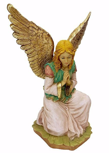 Picture of Glory Angel cm 50 (19,7 inch) Pellegrini Nativity Scene large size Statue in Oxolite Resin indoor outdoor use traditional Arabic
