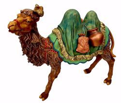 Picture of Standing Camel cm 50 (19,7 inch) Pellegrini Nativity Scene large size Statue in Oxolite Resin indoor outdoor use traditional Arabic