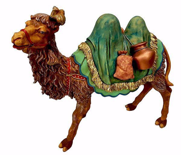 Immagine di Cammello in piedi cm 50 (19,7 inch) Presepe Pellegrini in Resina Oxolite Arabo tradizionale Statua grande per interno esterno