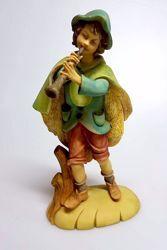 Imagen de Pastor con Flauta cm 30 (11,8 inch) Belén Pellegrini árabe tradicional Estatua grande en Resina Oxolite  uso en interior exterior