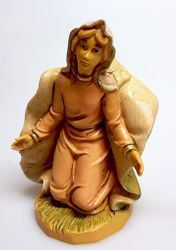 Picture of Mary / Madonna cm 20 (7,9 inch) Pellegrini Nativity Scene small size Statue Wood Stained plastic PVC traditional Arabic indoor outdoor use