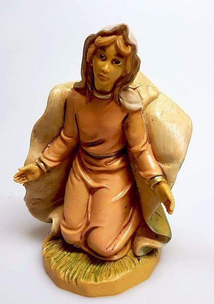 Imagen de María / Madonna cm 20 (7,9 inch) Belén Pellegrini Estatua en plástico PVC árabe tradicional pequeño Efecto Madera para uso en interior exterior