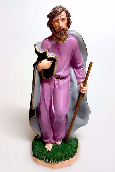 Picture of Saint Joseph cm 20 (7,9 inch) Pellegrini Nativity Scene small size Statue Bright Colors plastic PVC traditional Arabic indoor outdoor use