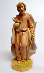 Picture of Saint Joseph cm 20 (7,9 inch) Pellegrini Nativity Scene small size Statue Wood Stained plastic PVC traditional Arabic indoor outdoor use